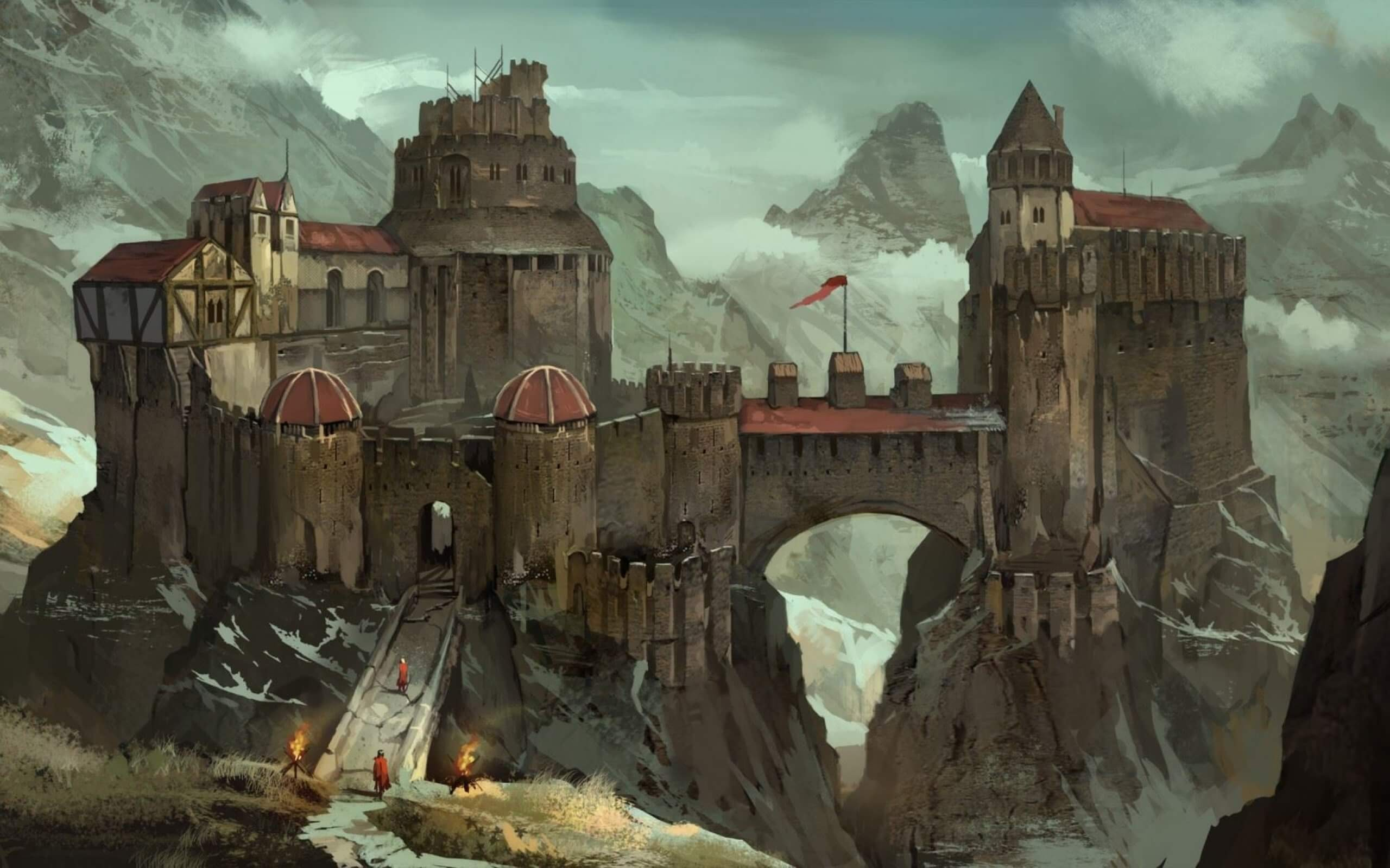 An Old Castle Artistic Work
