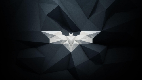 Artistic Rendition of Modern Batman Logo in Grayscale