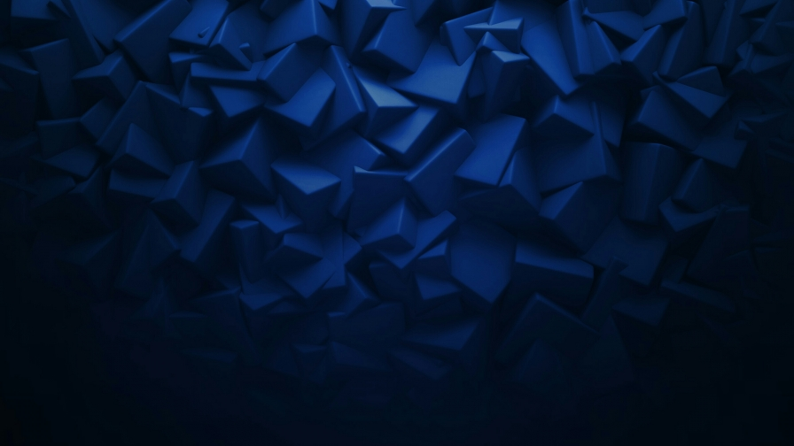 3d Cube In Black And Blue Abstract Qhd Wallpaper: 3D Elements In Blue Abstract QHD Wallpaper