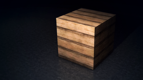 3D Rendering Of A Wooden Cube HD Wallpaper