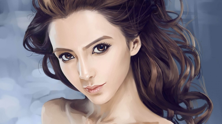 A Beautiful Girl Artistic Work Paintings 2560x1600 QHD Wallpaper 15