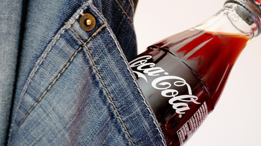 A Bottle Of Coke In The Pocket Of A Pair Of Jeans HD Wallpaper