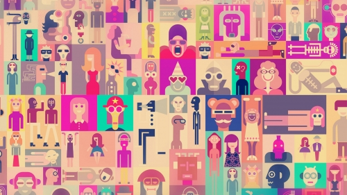 A Collage Of Avatars Vector QHD Wallpaper 2