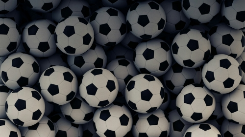 A Collage Of Footballs Soccer Football Sports QHD Wallpaper