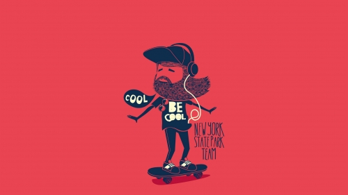 A Cool Dude Being Cool Vector QHD Wallpaper
