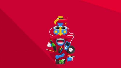 A Cool Vector Character Vector QHD Wallpaper