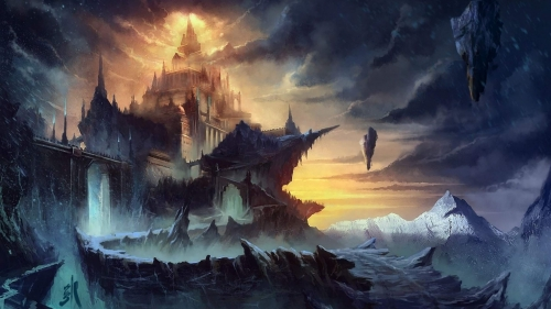 A Dark Castle Artistic Work Paintings 2560x1600 QHD Wallpaper 41