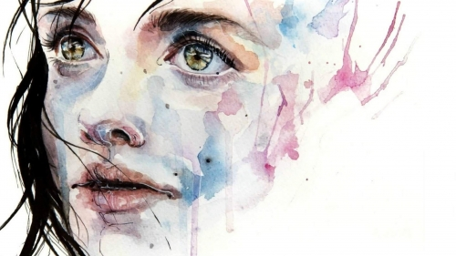 A Girl Face Artistic Work Paintings 2560x1600 QHD Wallpaper 26