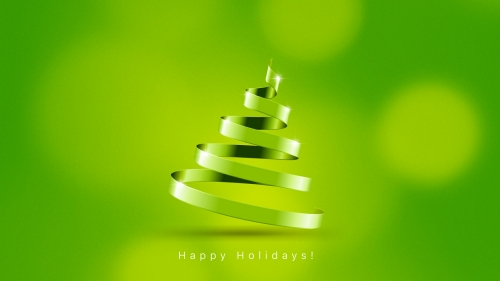 A Green Happy Holidays Events QHD Wallpaper