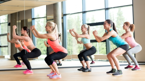 A Group Of Women Working Out In The Gym Health HD Wallpaper