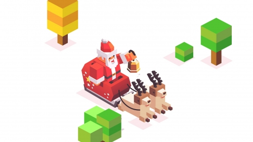 A Lego Version Of Santa And His Reindeer Events QHD Wallpaper