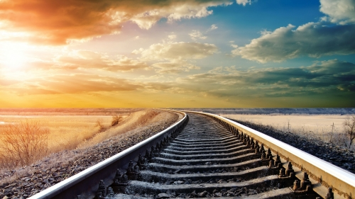 A Railway Lines   Nature HD Wallpaper