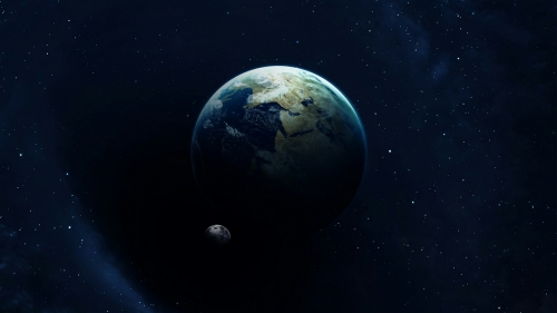A View Of Earth From Space Fantasy QHD Wallpaper