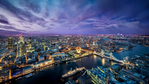 A View Of London City At Night City HD Wallpaper