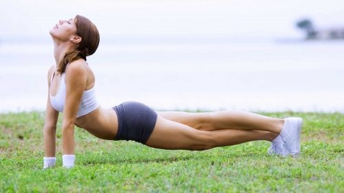 A Woman Doing Yoga On The Grass Health HD Wallpaper