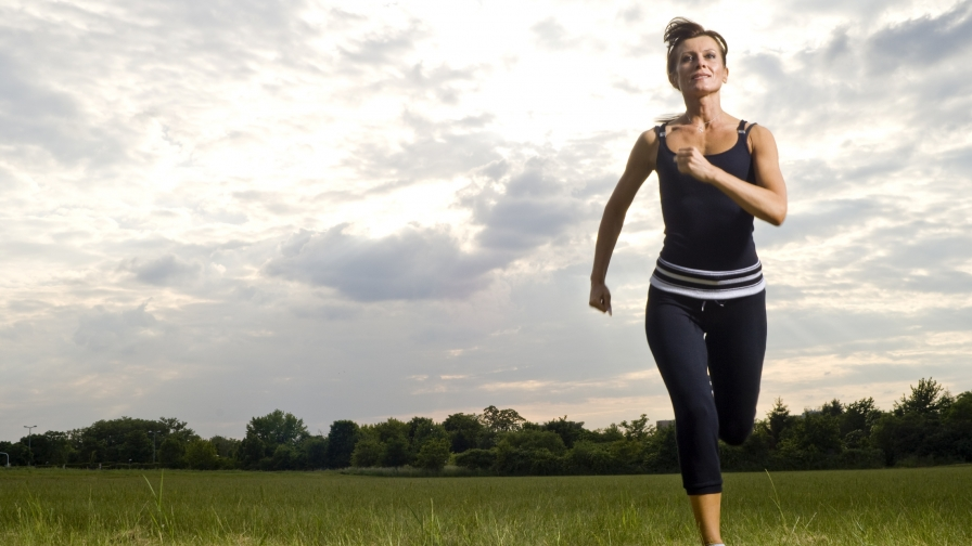 A Woman Joggin in the Open Field HD Health Wallpaper