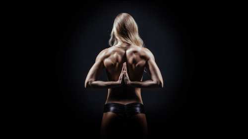A Woman Showing Her Back Muscles Health HD Wallpaper