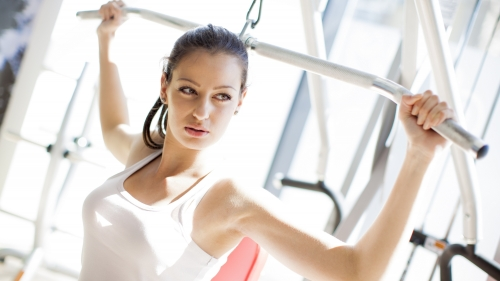 A Woman Working Out In The Gym Health HD Wallpaper 3