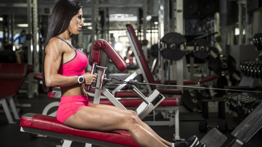 A Woman Working Out In The Gym Health HD Wallpaper 4