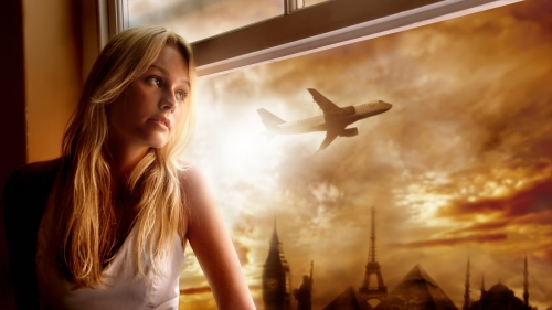 A Young Woman In The Window   Photography HD Wallpaper
