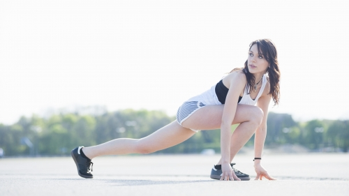 A Young Woman Stretching In The Outdoors Health HD Wallpaper