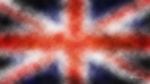 Abstract Display of British Flag Without Text