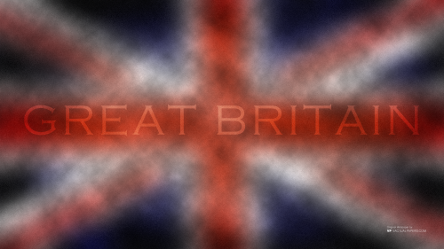 Abstract Display of British Flag