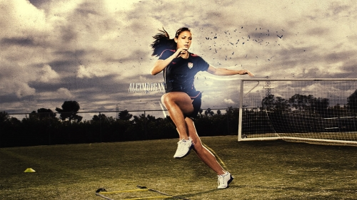 American Soccer Star Alex Morgan Excercising In The Field Health HD Wallpaper