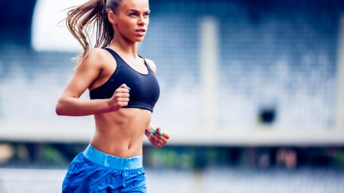 An Athlete Woman Jogging Workout Health Fitness QHD Wallpaper