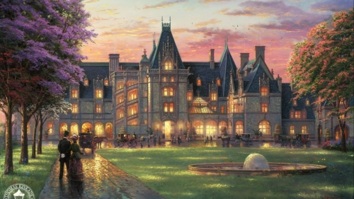 An English Mansion Artistic Work Paintings 2560x1600 QHD Wallpaper 61