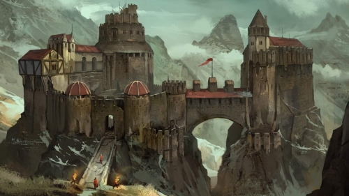 An Old Castle Artistic Work Paintings 2560x1600 QHD Wallpaper 38