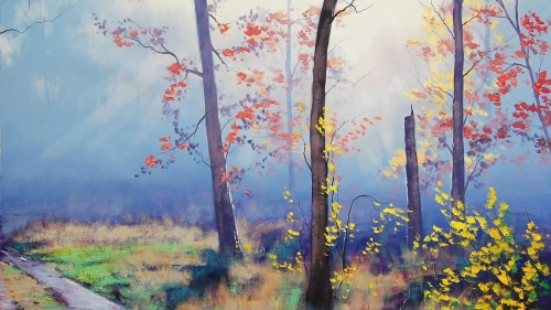 Autumn Trees Artistic Work Paintings 2560x1600 QHD Wallpaper 78