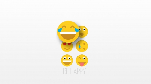 Be Happy Smilies Vector QHD Wallpaper 3