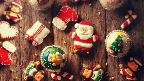 Christmas Cookies Events QHD Wallpaper