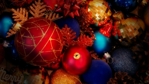 Christmas Decorations Events QHD Wallpaper 2