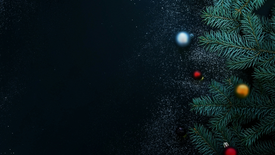 Christmas Tree And Decorations Events QHD Wallpaper