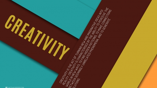 Creativity - Typography HD Wallpaper by Vactual Papers