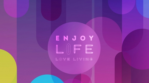 Enjoy Life Love Living Quotes QHD Wallpaper