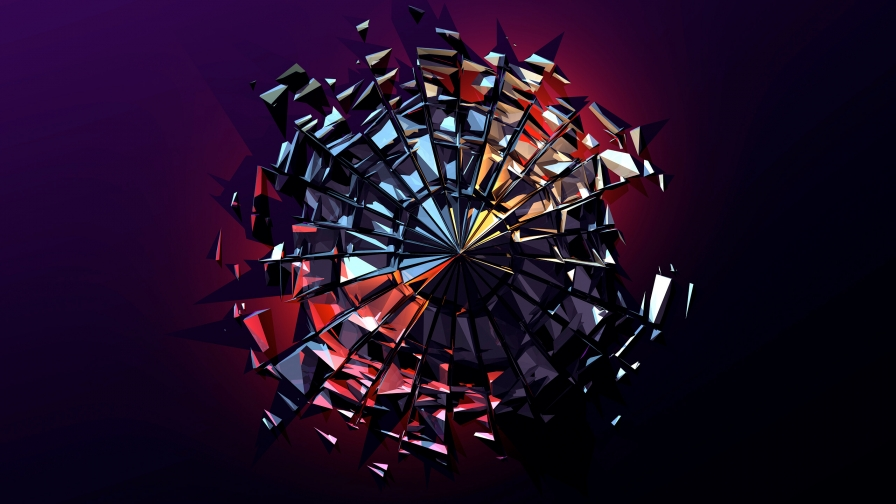 Facets Abstract Design QHD 2560x1440 Wallpaper 38