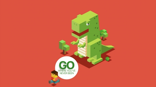 Go Where You Have Neven Been Lego Vector QHD Wallpaper