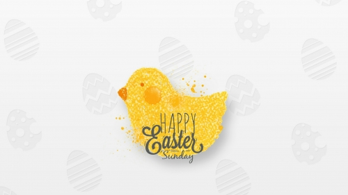 Happy Easter Sunday Events QHD Wallpaper