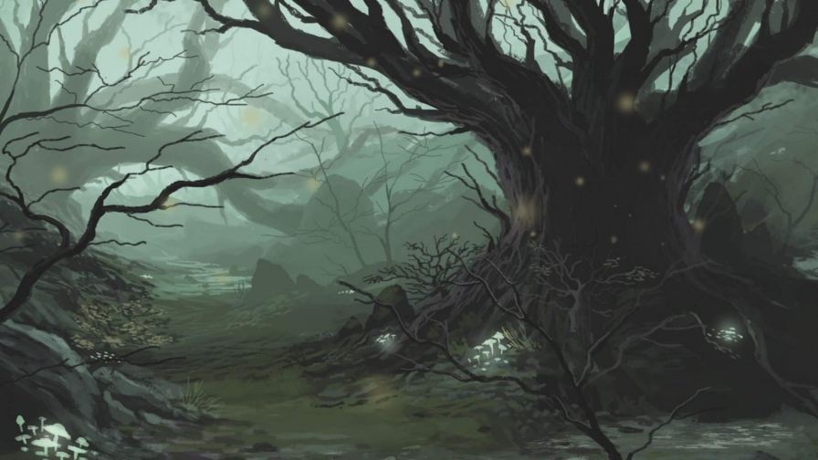 Haunted Forest Artistic Work Paintings 2560x1600 QHD Wallpaper 29