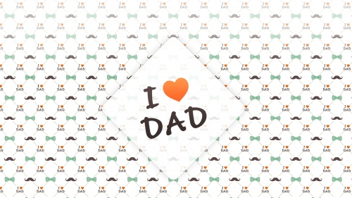 I Love Dad Happy Fathers Day Events QHD Wallpaper