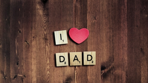 I Love Dad Happy Father's Day QHD Wallpaper