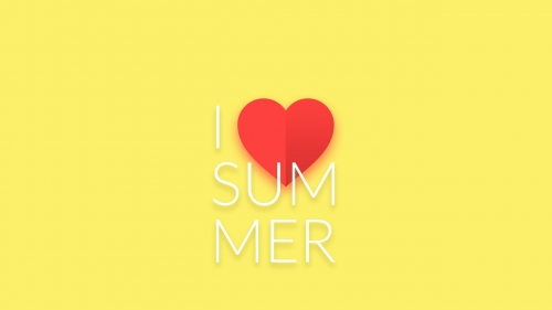 I Love Summer Vector QHD Wallpaper