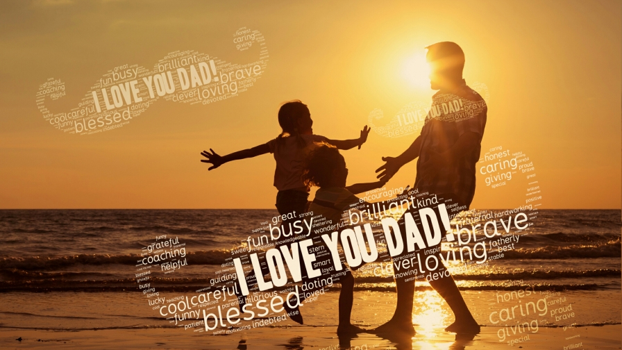 I Love You Dad Happy Father's Day QHD Wallpaper