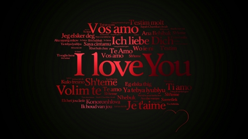 I Love You In Many Languages Valentines Day Events QHD Wallpaper
