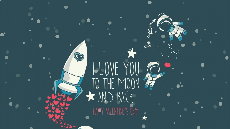I Love You To The Moon And Back Valentine Day Events QHD Wallpaper