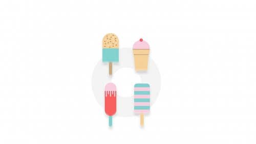 Ice Cream Bars Vector QHD Wallpaper