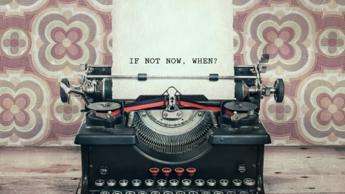 If Not Now When Vintage Typewriter Quotes QHD Wallpaper